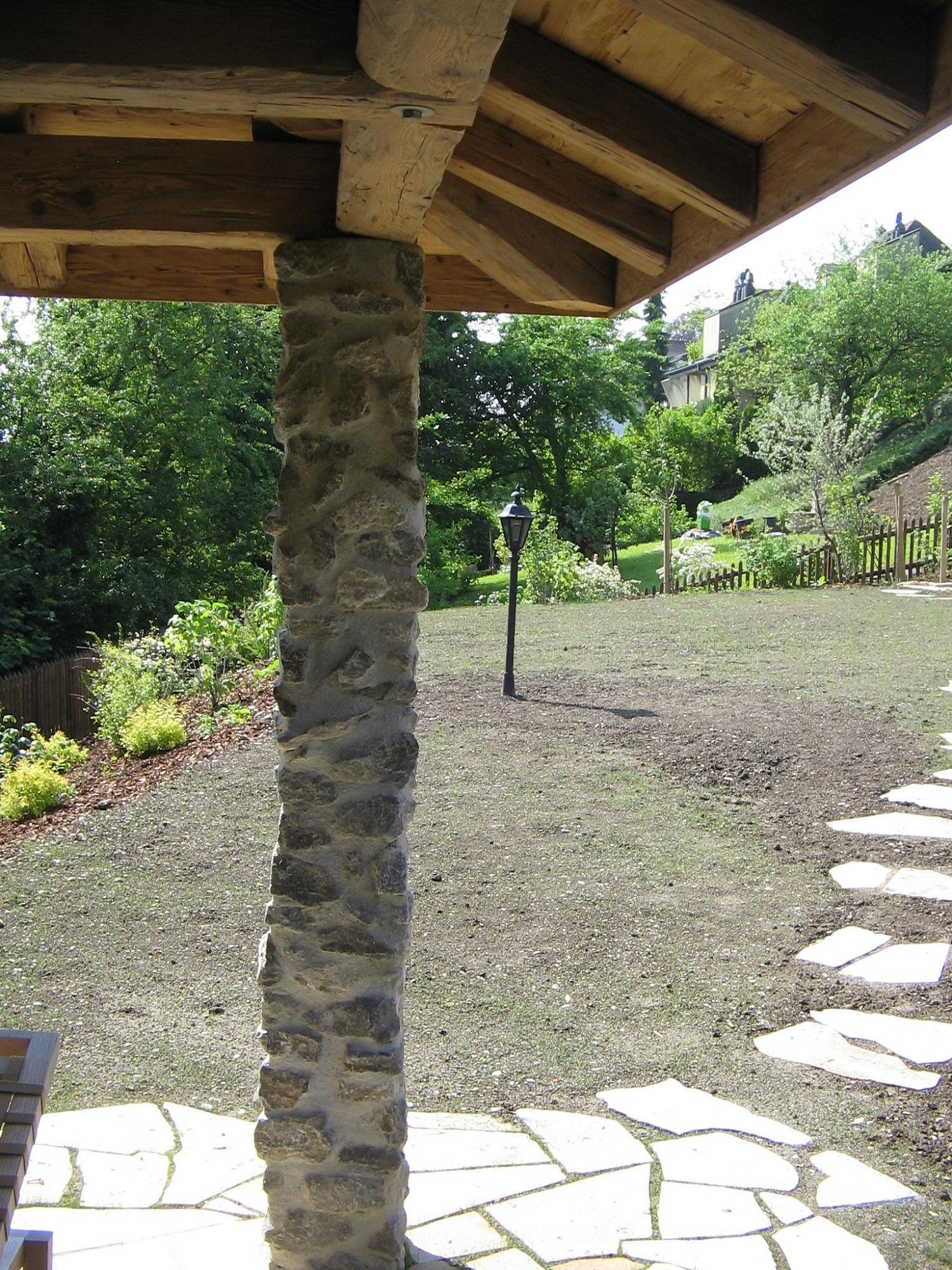 Natursteinarbeiten kuster steinbr che ag news - Gartenhaus mit feuerstelle ...